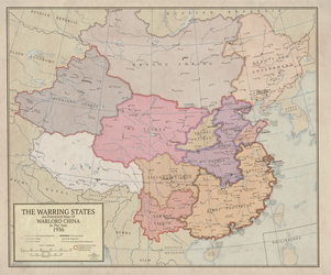 The Warring States: 1936 Kaiserreich China Map by Vexillographist