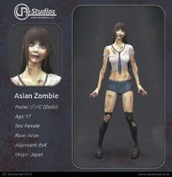 Character Design - Asian Zombie by YeshuaNel