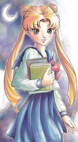 Sailor Moon contest entry(digital watercolor) by ChibiWing