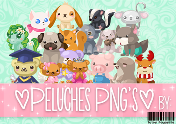 Peluches Png's by Payasiita