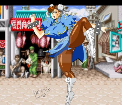 Chun li, qeen of the Street Fighters by Benrex177