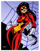 Spiderwoman by Bruce Timm by DrDoom1081