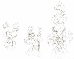 Circus Gals Doodle by Edlynette