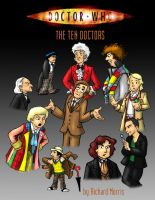 The Ten Doctors - Poster by Gorpo