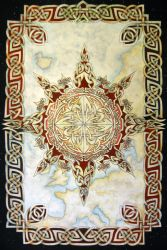 Knotwork compass rose by knotty-inks