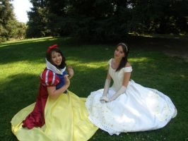 Snow White and Belle by mermaidbelle