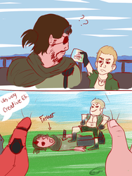 Eli and Snake by Cheezitss