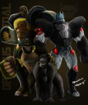 Optimus PRIMAL (BW/BM) by Sokartis
