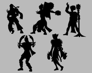 Original Character Silhouettes by AceCircus