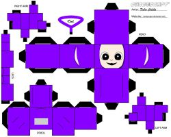 Tinky winky cubeecraft by melopruppo