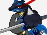 Xeta Shidel (My OC) With sword out. by XetaJTS
