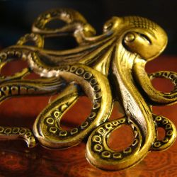 Steampunk Octopus Ring by Om-Society