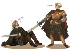 Brienne and Jaime by kyla79