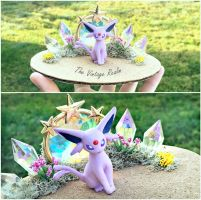 PBT Collage - Espeon Crystal Throne by TheVintageRealm