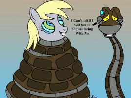 Kaa Catches Derpy..or not by lol20