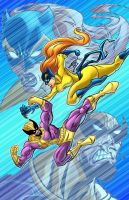 Hellcat VS Batroc by ArtOfTDJ
