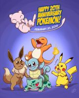 Pokemon 20th Anniversary by LilBruno