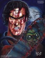 WHO'S LAUGHING NOW!! Ash (Evil Dead) by The-Art-of-Ravenwolf