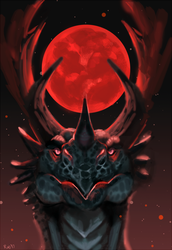 Red Moon by rajewel