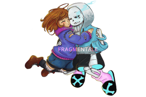 Fragmentale Frisk and Sans [with Speedpaint] by narcyzus