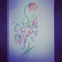 Flower fae - finished by Scr1b3