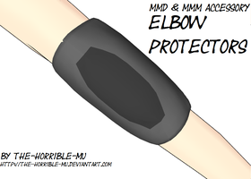 [MMD + M3 Accessory] Elbow Protectors + DL by The-Horrible-Mu