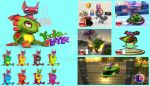 Yooka and Laylee Super Smash Bros Moveset by Hyrule64