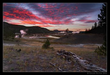 Yellowstone Sunset by Swordtemper