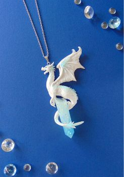 Ice Dragon Necklace by LittleBreeze