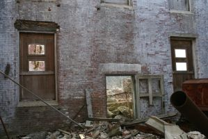 Abandoned Brick Building by AliDee33