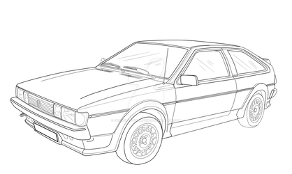 Scirocco 53B lineart by shadowhatesomochao