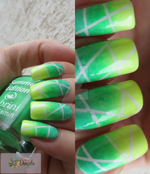 Summer Cocktail - neon nail design by Danijella