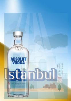 Absolut Vodka bottle and cover design by amplifiedmonkeys