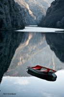 Boat on the lake by Vestermk