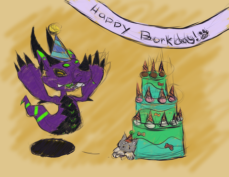 Happy Borkday by DDeify