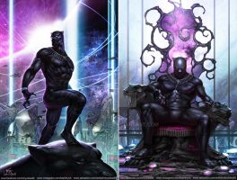 Black Panther #1 and #3 by inhyuklee
