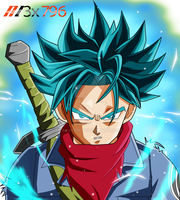 Trunks ssj blue palette1 aura effect by AL3X796