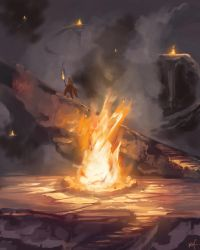 Speed Painting - Fire by KalaSketch