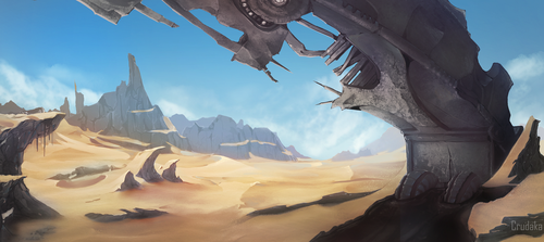 Desert Ruins by Crudaka