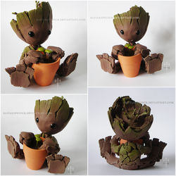 : JUMBO chibi Groot : by BastardPrince