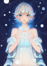 +The First Snowflake+ by larienne