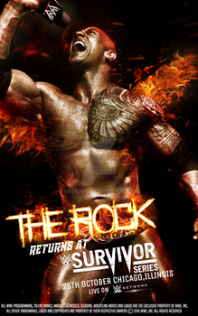 The Rock Returns at WWE Survivor Series 2017 by SidCena555