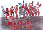 Team Akatsuki Fortress-Colored by lizathehedgehog