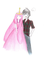 Marshall Lee and PB - near to finish, I guess? by diabolico0anghel