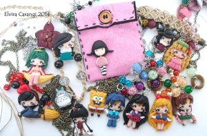 Polymer clay creations (check my etsy shop) by elvira-creations