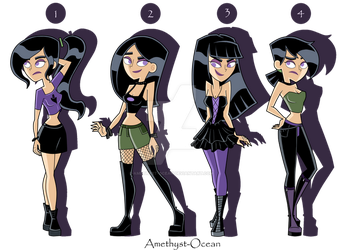 Sam Outfits Part 1 by Amethyst-Ocean