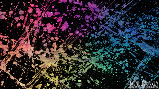 Funky Splatter Wallpaper by raenbomonkey