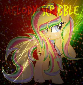 [AT] Melody Scribble (W/Background|Effects) by CupcakePieMLPCUTE