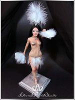Vegas Showgirl Sharon #96 OOAK Sculpture by bornbrightdolls