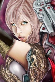 Lightning Final Fantasy by Riafairyface